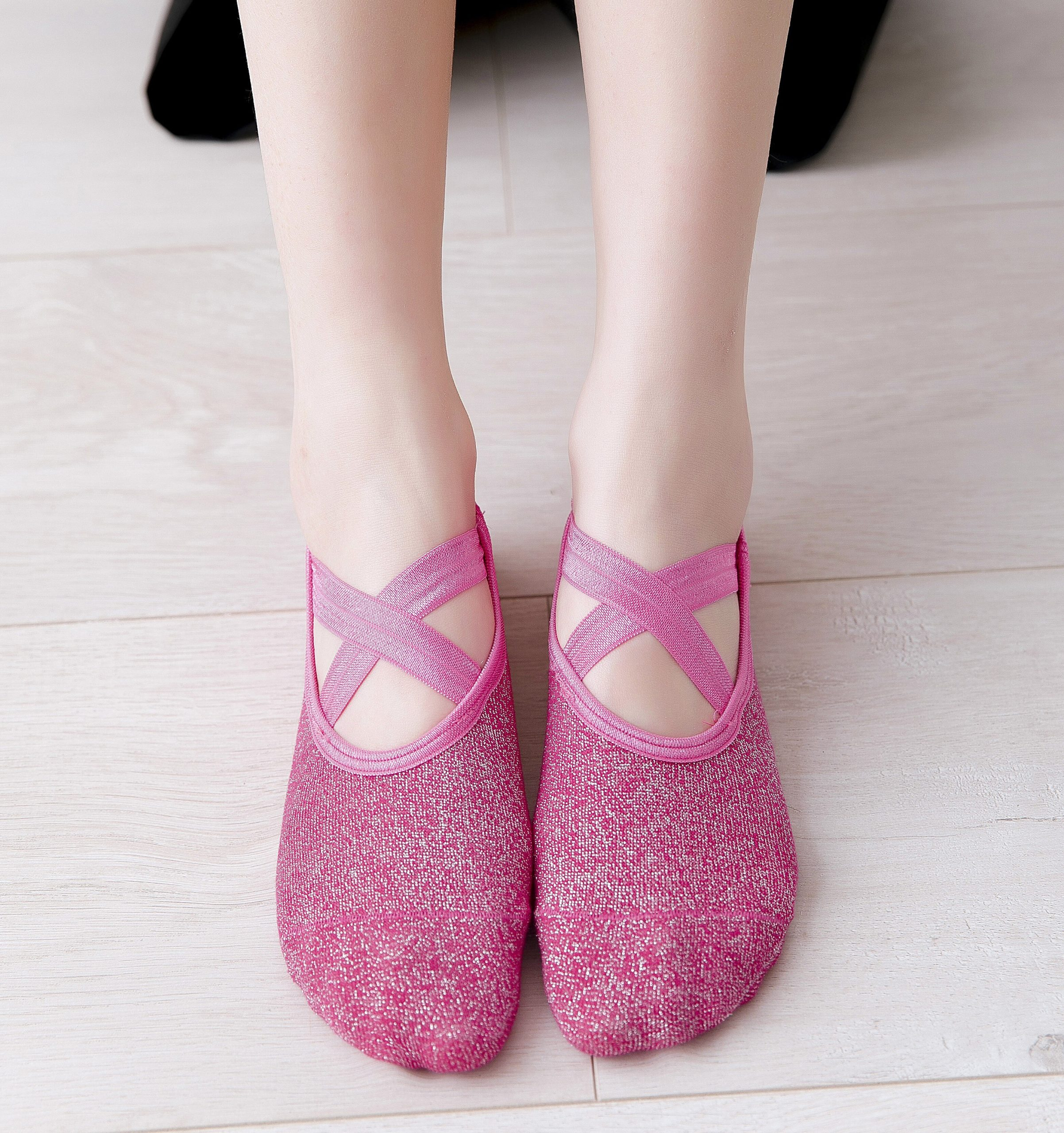 Women Cotton Socks Yoga Barre Socks Non Slip Skid Barre Pilates Ballet Colorful